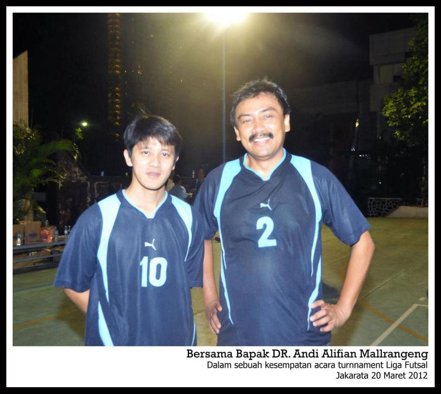 Bersama Bpk. DR. Andi Alfian Mallarangeng